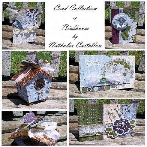 """""""English Garden"""" Card Collection & Mini Birdhouse"""