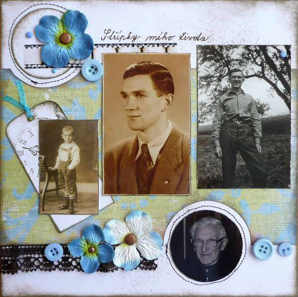 first page of the album for my grandfather