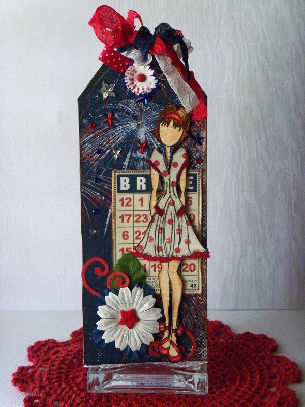 Patriotic Prima Doll Tag