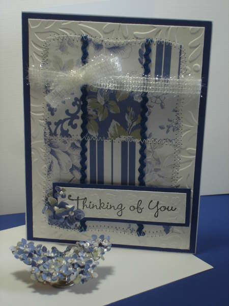 Blue and White Quilt Card