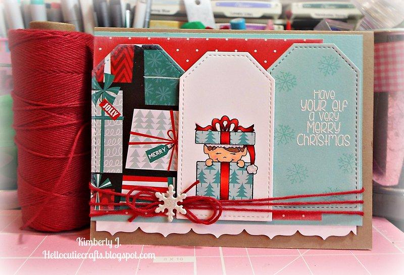 Taggy Elf Christmas card