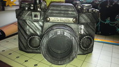 3d camera made with the SVG cut outs