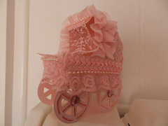 Baby carriage in pink