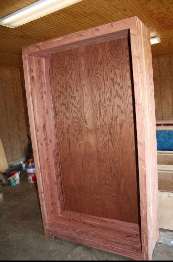 Cedar cabinet before varnish and doors