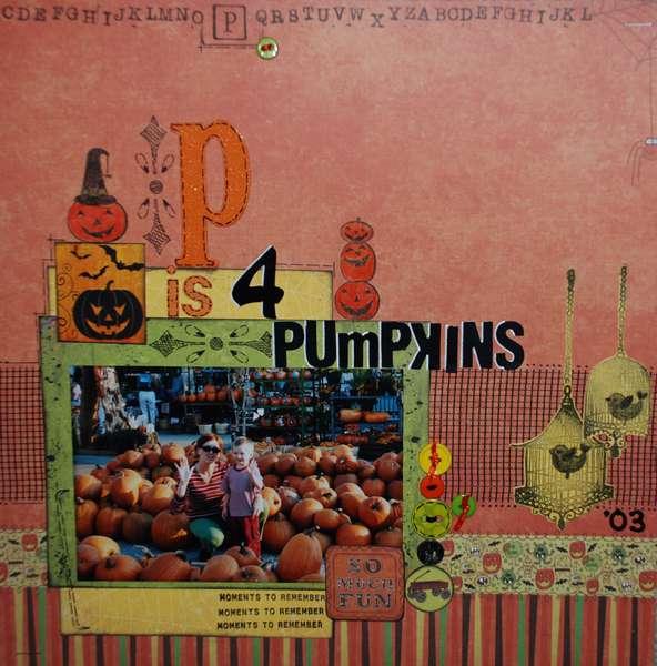 P is 4 Pumpkins