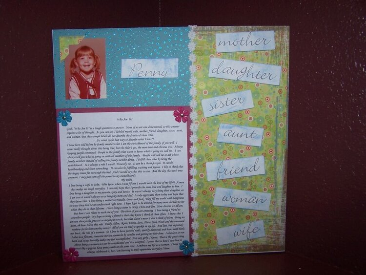 More Than Scrapbooking All About Me Challenge