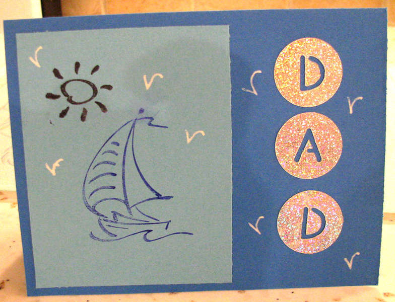 card 2 by 11 y/o gdaughter