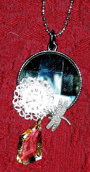 Steampunk Mirrored Necklace