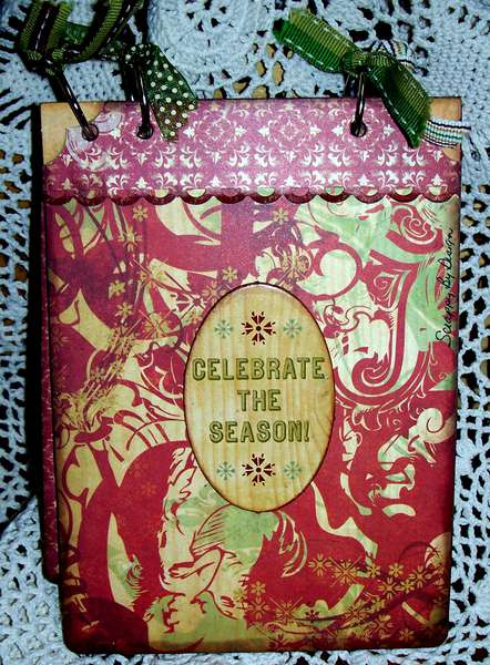 Back page for Christmas Mini-album