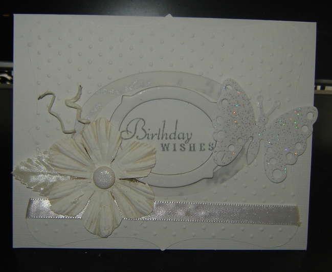 white birthday card