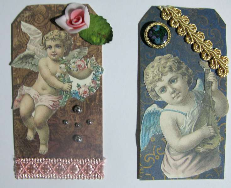 Vintage Tag Swap Angels