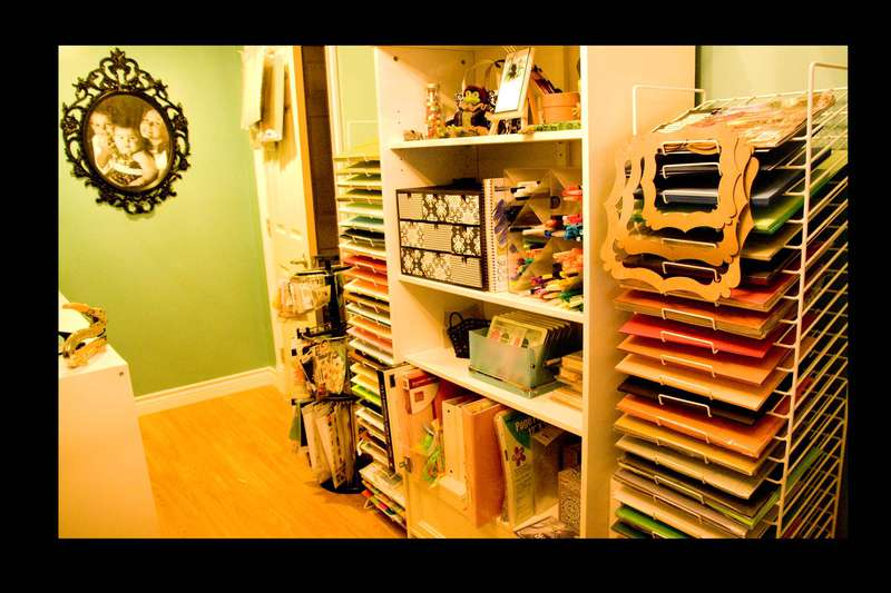 scrapbook room storage