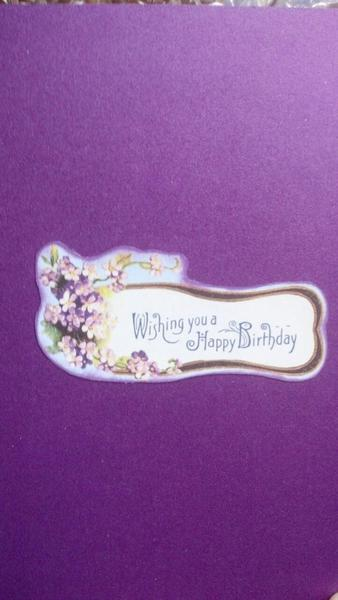 Birthday Wishes card (inside)