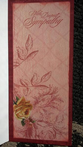 Sympathy card (inside)