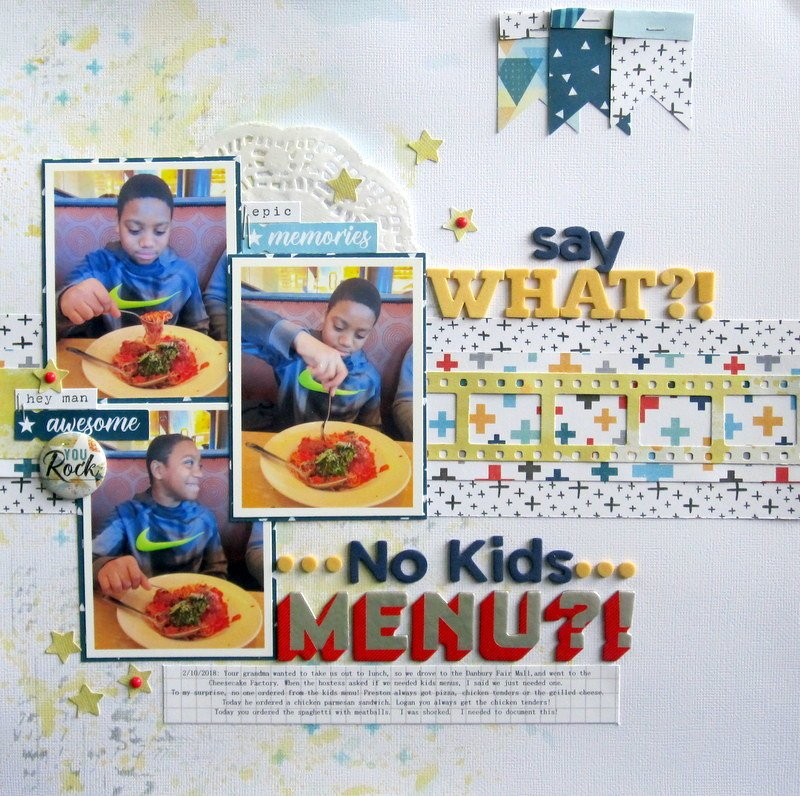 Say What?!  No Kids Menu?!