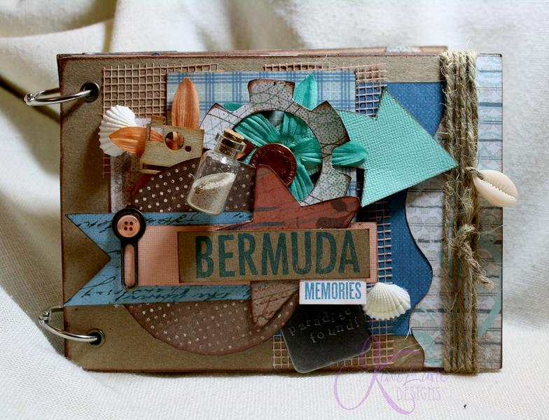 Bermuda Mini Album {Kiwi Lane Designs & Quick Quotes}