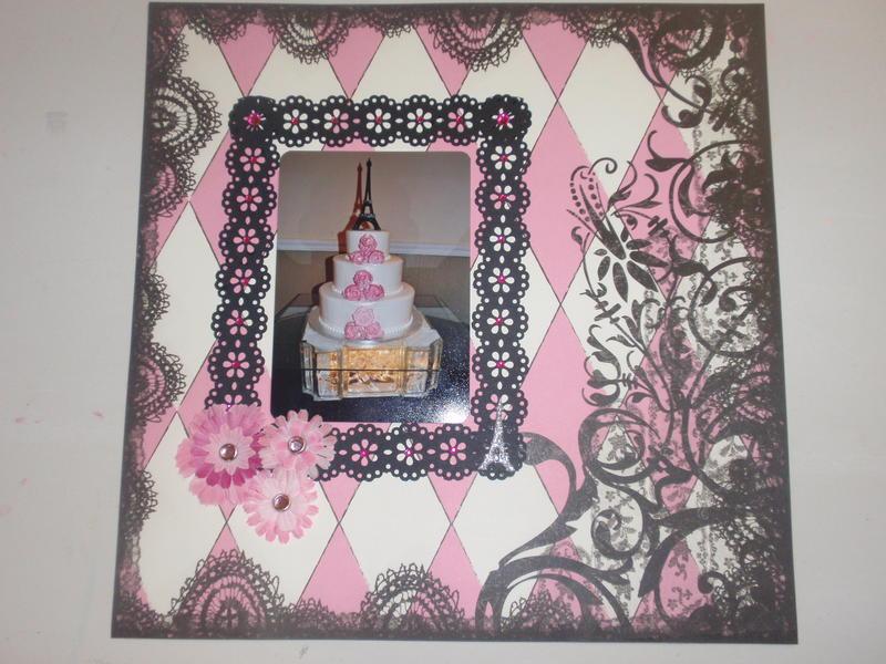 Daughters Paris theme cake