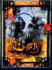 Jack-O-Lanterns and crow