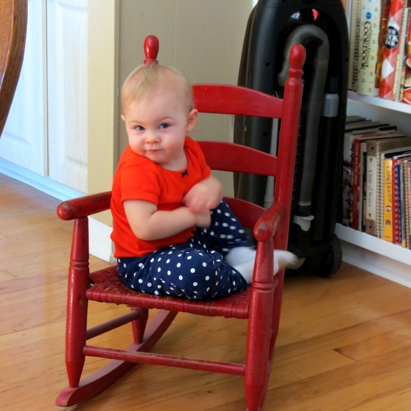 Sitting in Great Granny's Rocking Chair