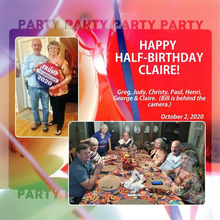 107 Half Birthday party