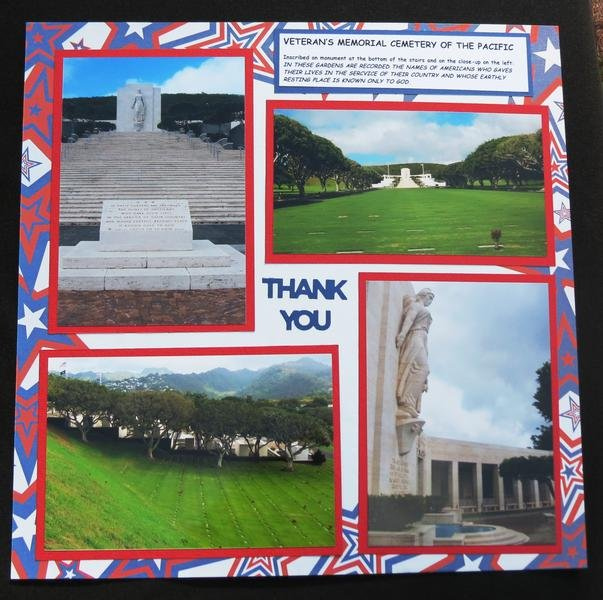 THANK YOU - Veteran's Memorial Cemetery of the Pacific (Hawaii)