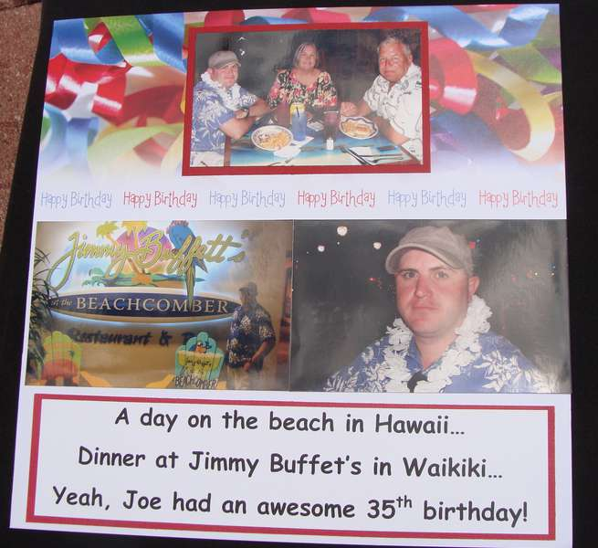 Joe's Birthday in Hawaii