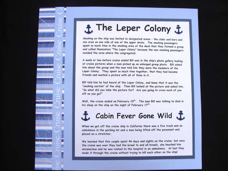 Cruise Ship Leper Colony