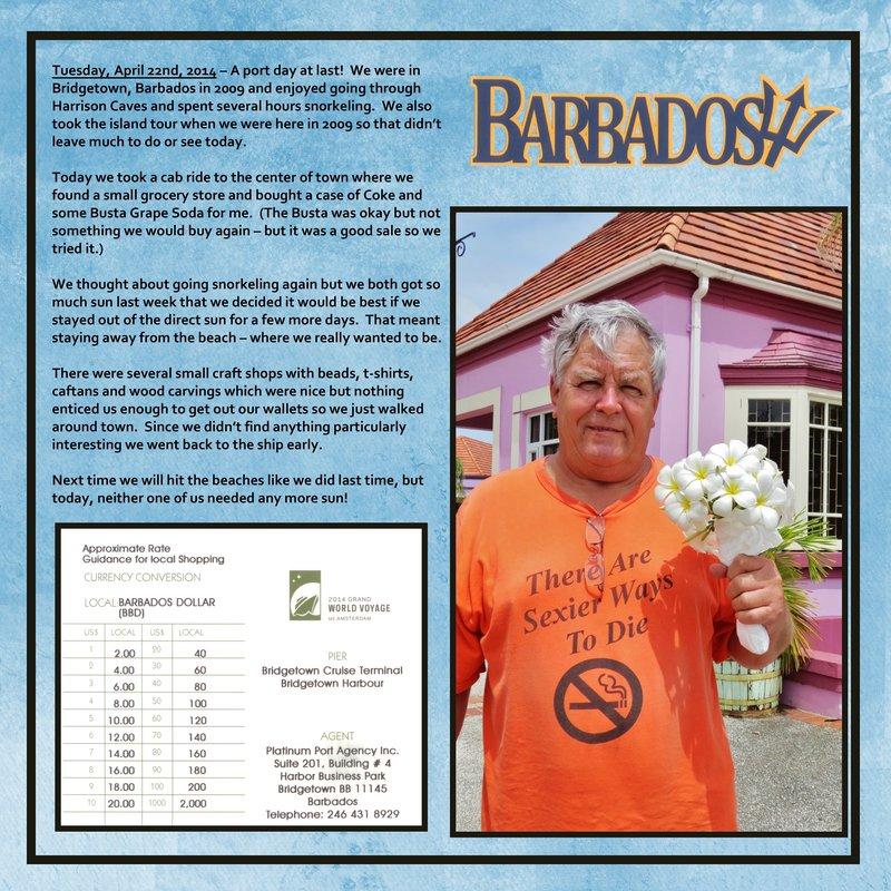 Page 472 - Volume Challenge 2014 World Cruise - Barbados