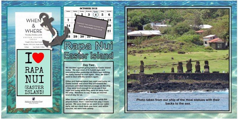 91 (both sides) Easter Island - Rapa Nui