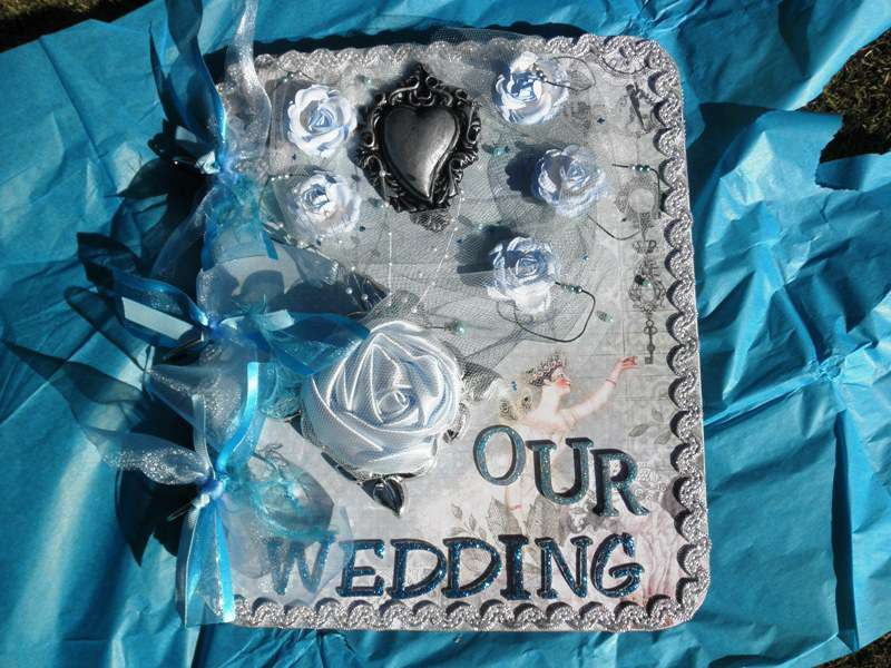 Blue 25cm x 30cm chipboard wedding album