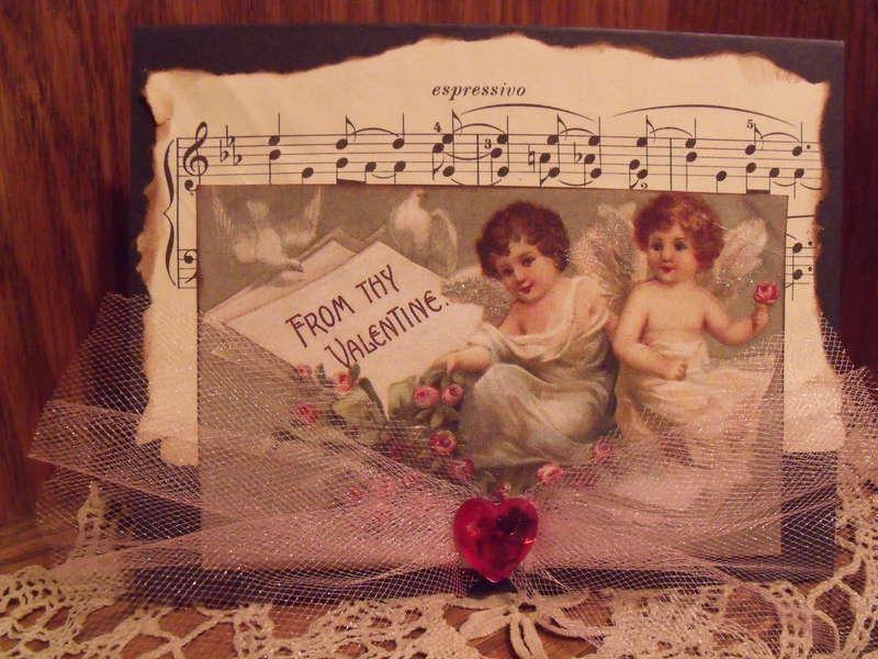 Vintage Postcard Angel Valentine