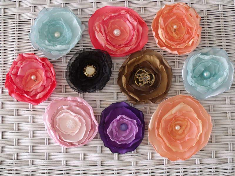 Vintage organza flowers