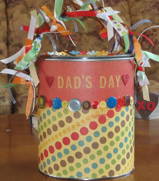 Altered Paint Can for Father's Day