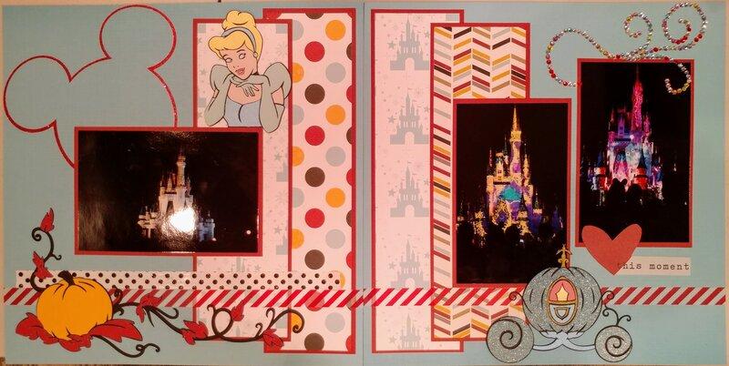 Cinderella's Castle Night time spectacular