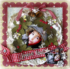 """""""Merry Christmas"""" advent wreath page"""