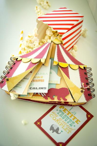 The Celian Circus, box and baby album