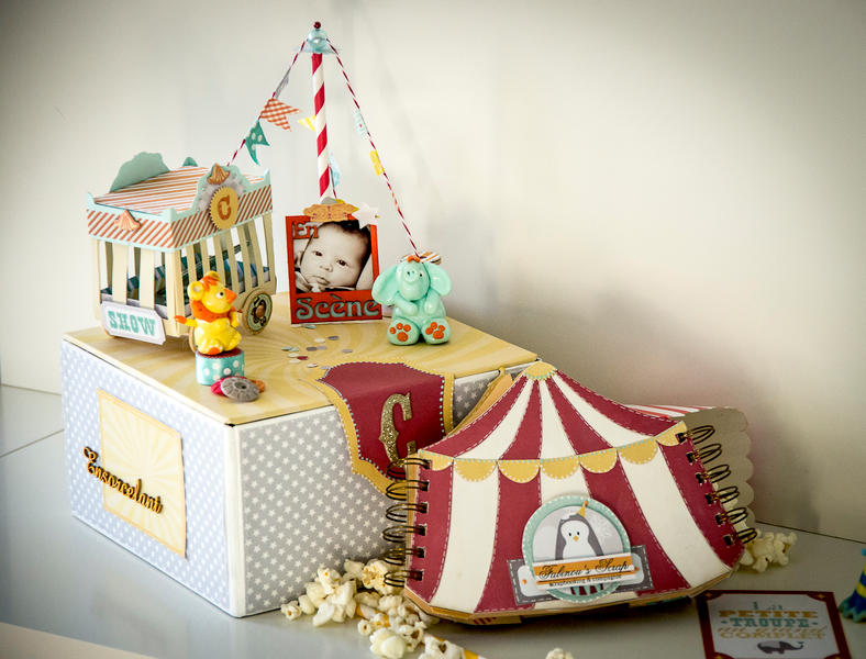 The Celian Circus, box and baby album
