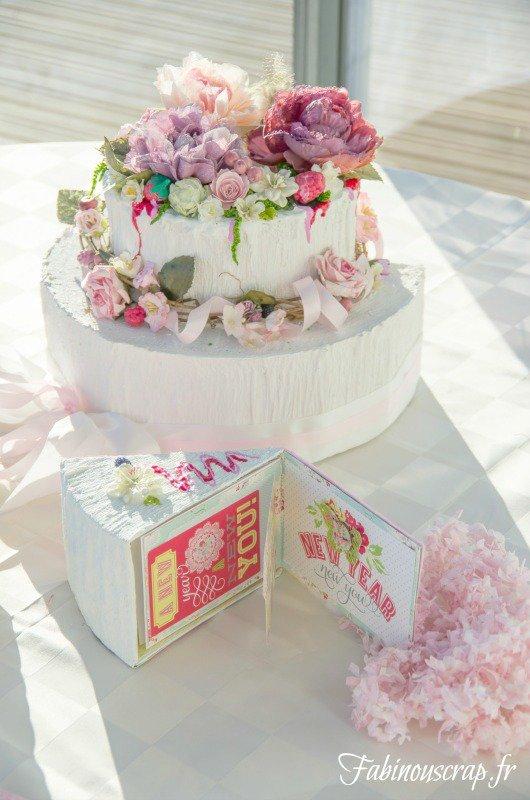 mini album and keepsake box in a cake(fake)