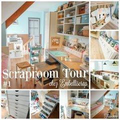 Scraproom Tour EmbelliScrap: Fabienne