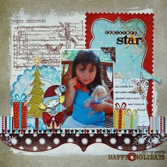 Christmas Star:  **Fancy Pants and Stamp Enjoy**