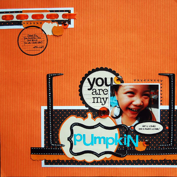 New Reminisce Halloween Line:  You are my Pumpkin