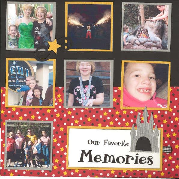 Disney Favorite Memories pg 1