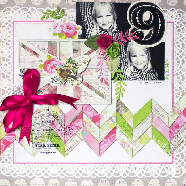 """""""9"""" Pink Paislee"""