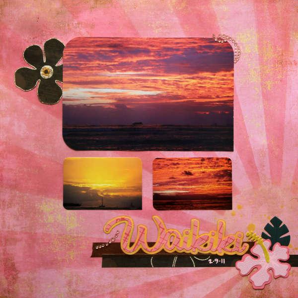 PINK Challenge:  Waikiki Sunset