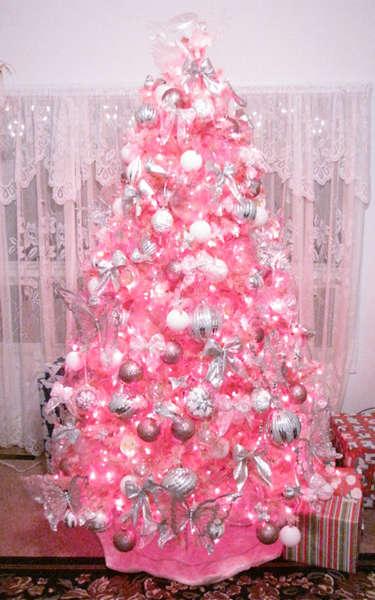 Me and My Pink Christmas tree!!!