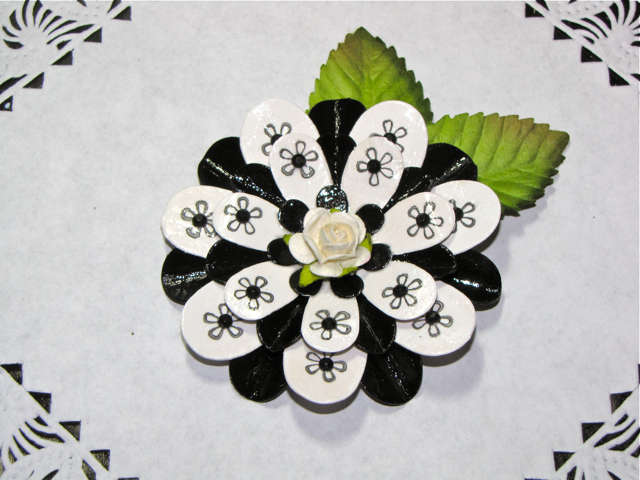 Handmade.. Added Black Gems