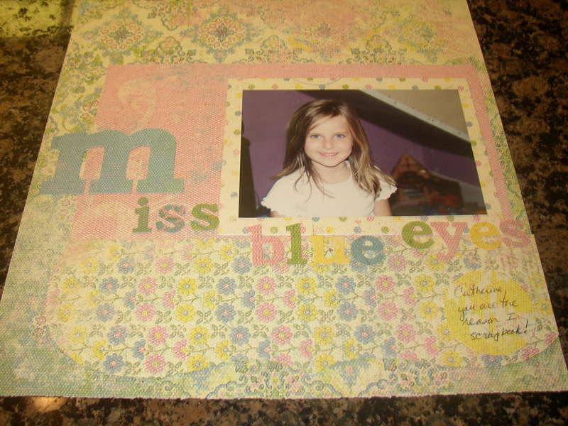 Miss Blue Eyes {SFAC #3 scrap story challenge}