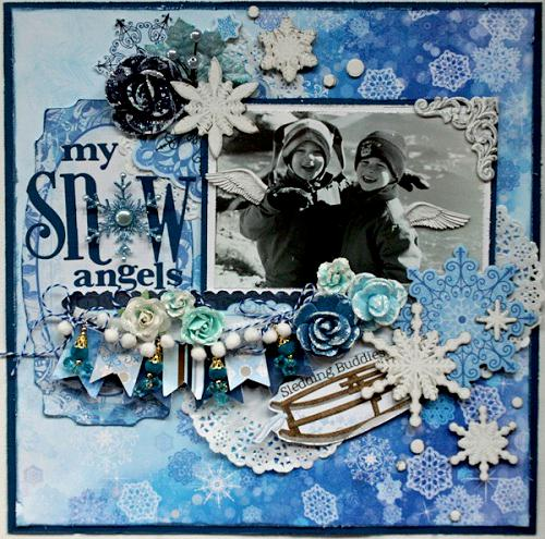 My Snow Angels ***SCRAPS OF ELEGANCE DECEMBER KIT WINTER WISHES***