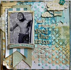 Feel The Rain- SCRAPS OF ELEGANCE APRIL KIT