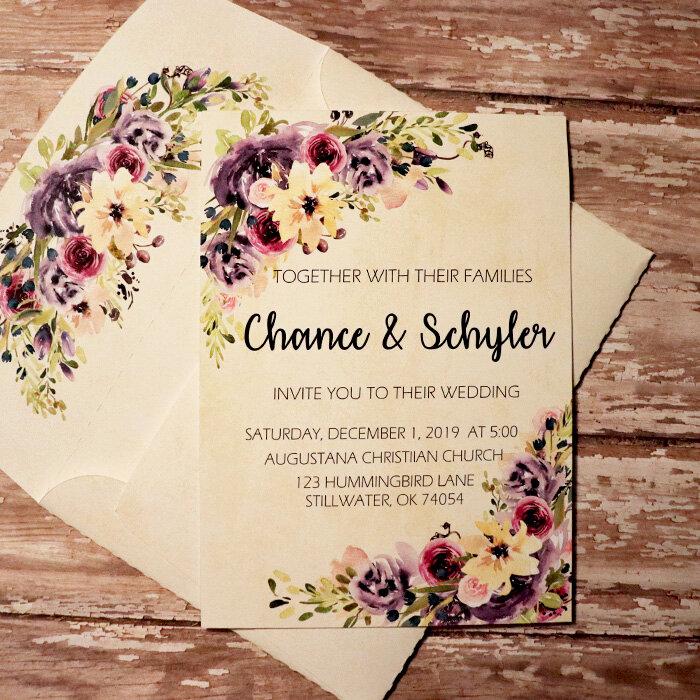 Wedding Invite with matching envie